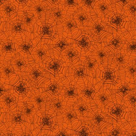TT- Orange Spider Webs