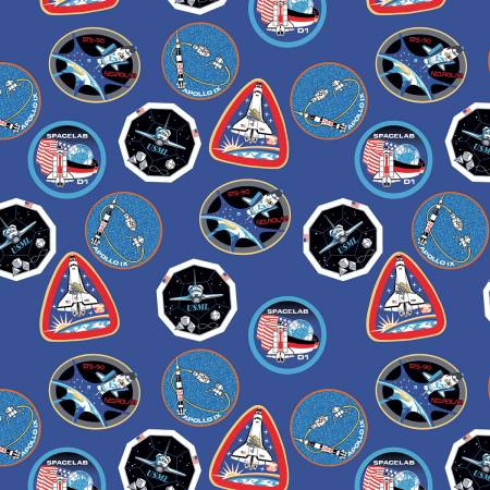 Nasa Patches Blue