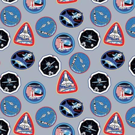 NASA Collection Nasa Patches Gray C7802R-GRAY