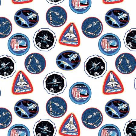 NASA Collection Nasa Patches White C7802R-WHITE