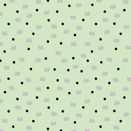 Meow And Forever - Dots - Green