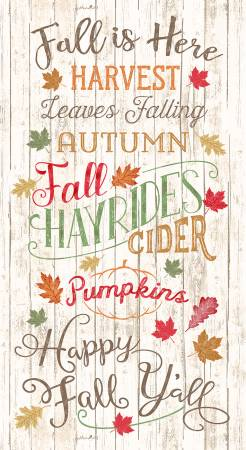 Natural Happy Fall Ya'll Panel