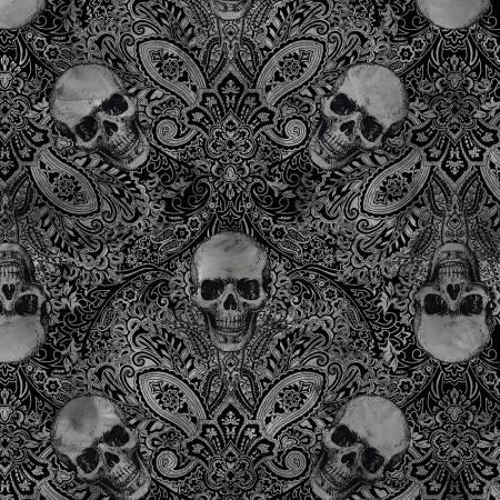 TT- Black Skull Filigree