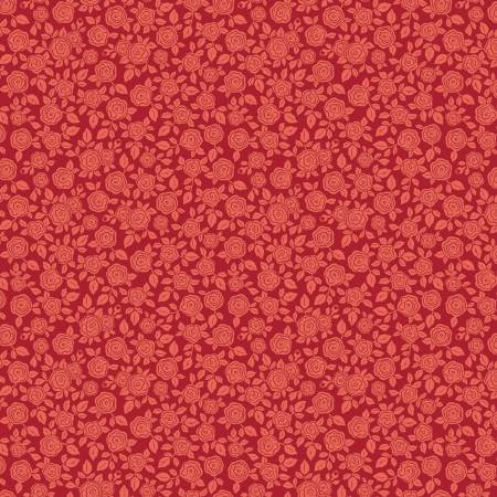Rose Hedge Floral Red