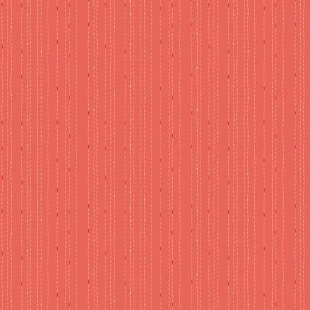 Rose Hedge Stitches-Coral