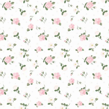 Riley Blake Mary Elizabeth Roses White C7923