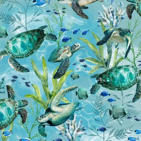 Blue Sea Turtles
