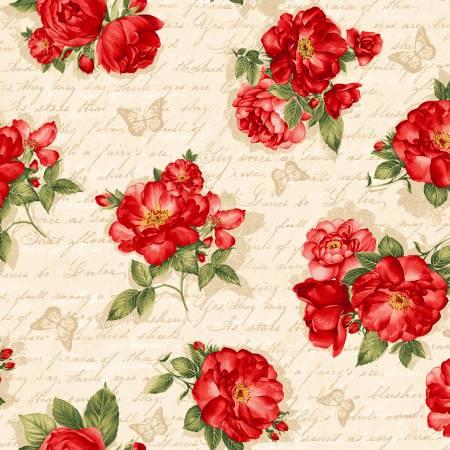 Cream Roses on Script