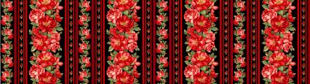 Black Rose Border Stripe