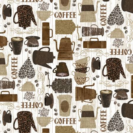 Coffee Allover  - Cups & Coffee Makers - Brown