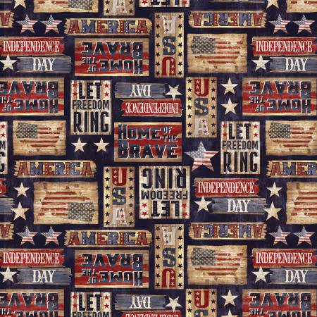 USA Patriotic Rustic Signs C7996 Navy