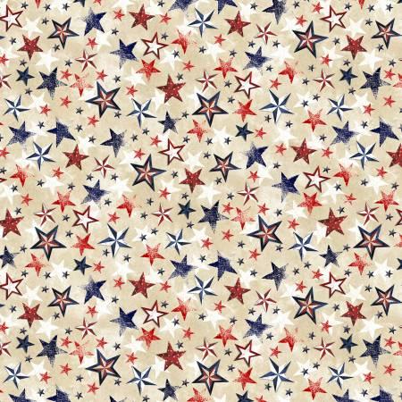 Cream Patriotic Various Stars