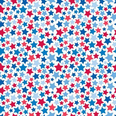PATRIOTIC STARS WHITE C8001