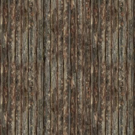 Lakeside Cabin Wood Planks Brown