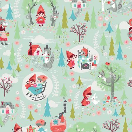 Main Mint from Little Red In The Woods by Jill Howarth for Riley Blake Designs