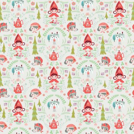Little Red In The Woods - Damask - Cream