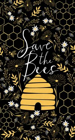 Black Save The Bees Panel