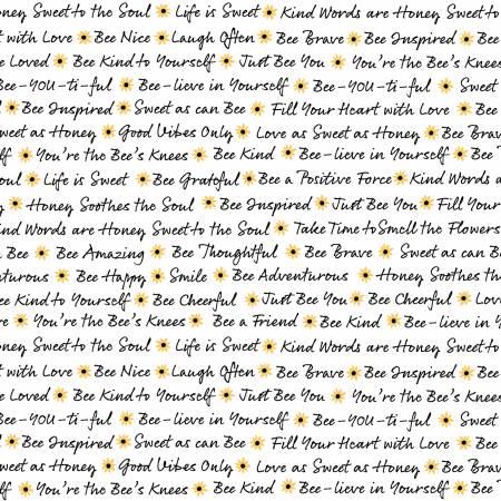 Bee White Words C8123-WHT