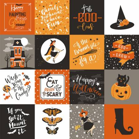 Fab-Boo-Lous Main Orange - Halloween Fabric by Riley Blake
