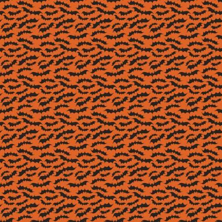 Riley Blake Fab-Boo-Lous Bats in Orange