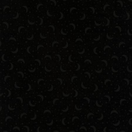 Black on Black Stars & Moons