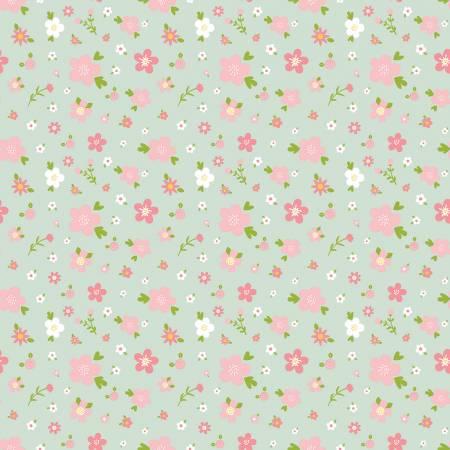 Sweet Baby Girl Flowers Mint