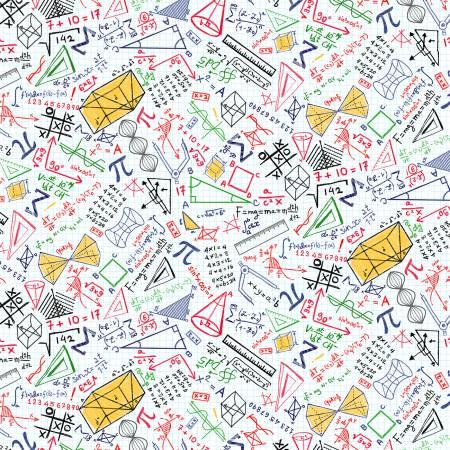 White Math Equations