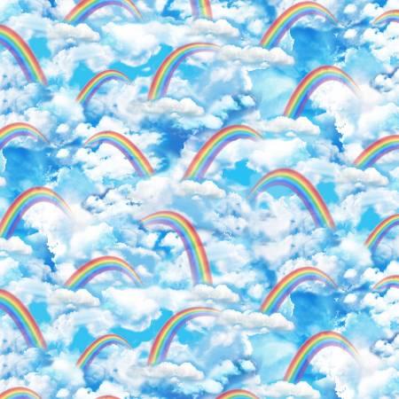 Timeless Treasures Bright Rainbow Sky
