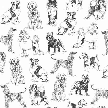 White Sketch Dogs