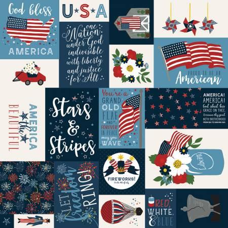 Celebrate America Main Navy by Riley Blake C8280