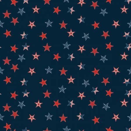 Riley Blake Celebrate America Stars Navy