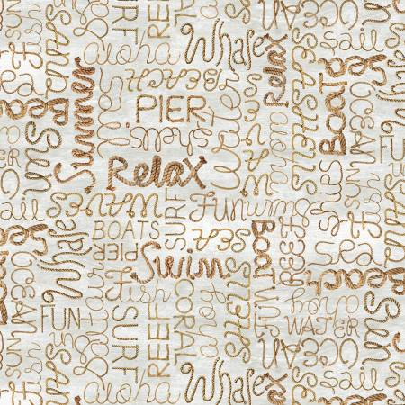 Beach - Words in Rope-C8289-Natural