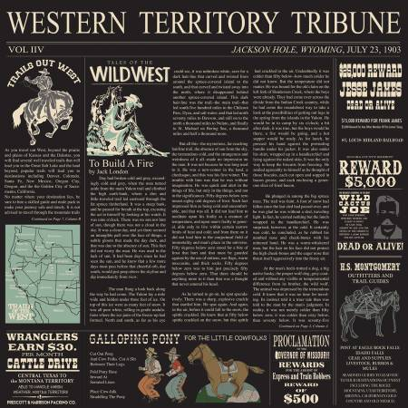 Cowboy Country Newsprint Black