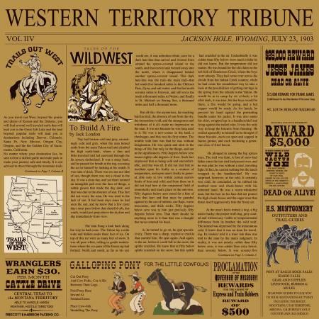 Cowboy Country Newsprint Tan