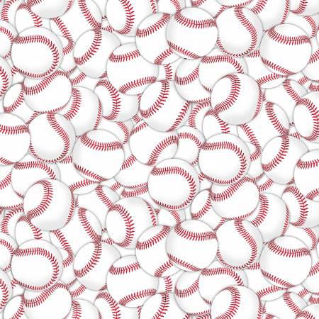 Baseballs Packed White