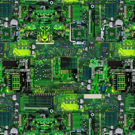 GAIL-C836 Green Circuit Board Math & Science Timeless Treasures