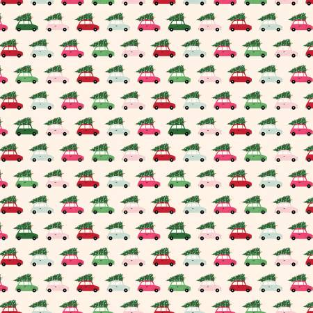 Merry And Bright Cars - Cream