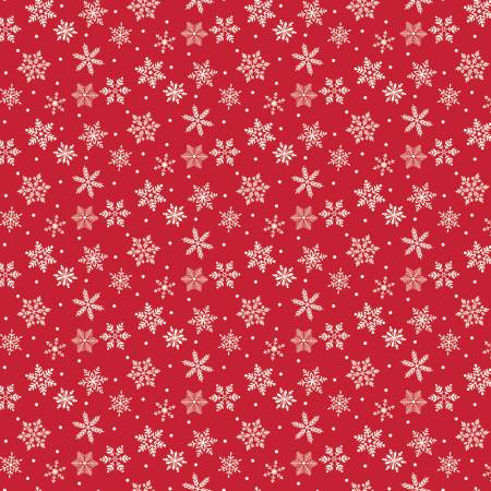 Merry And Bright Snowflakes Red C8395