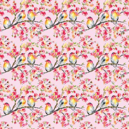 Sweet Melody Birds Pink