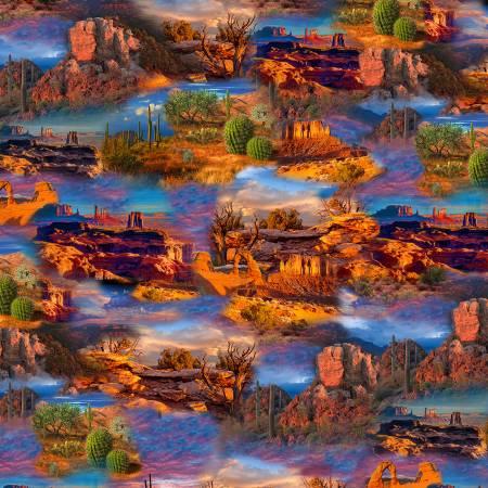Bright Southwest Desert Allover - C8422