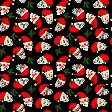 Black Christmas Sugar Skulls
