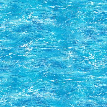 Blue Clear Ocean Water By The Beach by Timeless Treasures