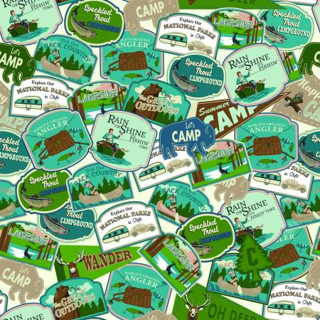 Gone Camping - Patches Teal