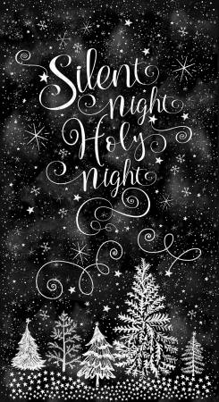 Black Silent Night Holy Night 24in Panel Timeless Treasures