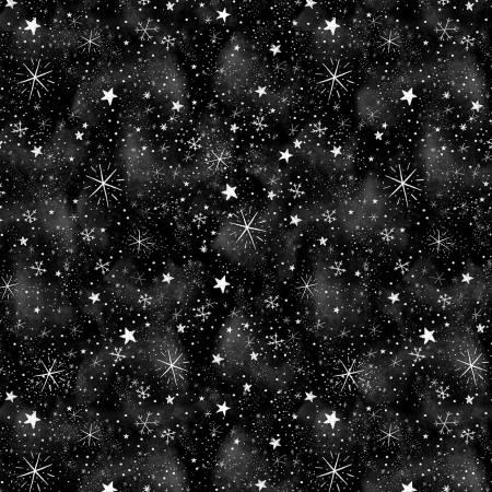 Silent Night - Timeless Treasures - Tossed Snowflake Blender