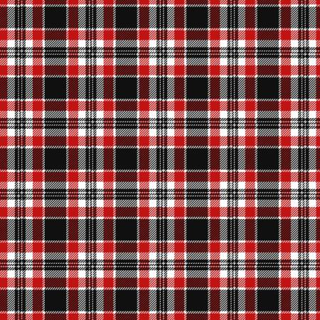 Red Silent Night Holiday Plaid