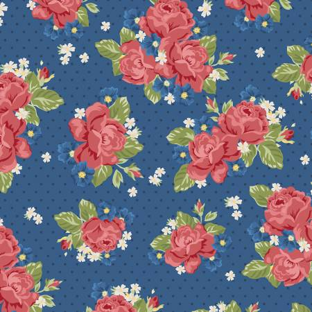 Harry & Alice Go To The Sea Floral Blue