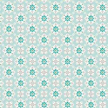 Granny Chic Wallpaper Blue
