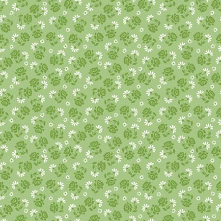 Granny Chic Roses Green C8523R-GREEN