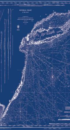 Nautical Chart Blue